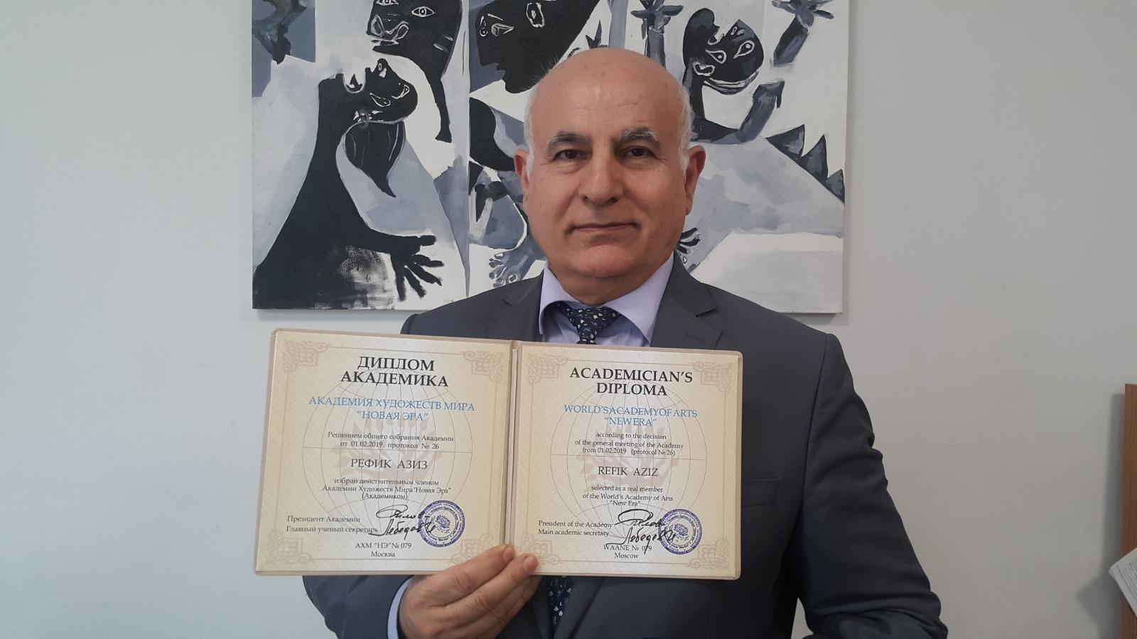 Yeditepe Üniversitesi Protetik Diş Tedavisi Ana Bilim Dalı Öğretim Üyesi Refik Aziz, World's Acedemy of Arts - New Era (Dünya Sanat Akademisi – Yeni Çağ) asil üyeliğine seçildi.